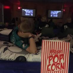 We have movie nights...
