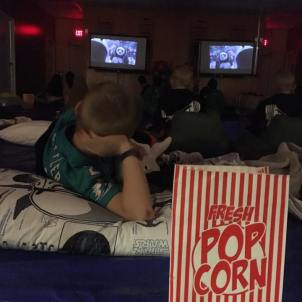 We have movie nights...