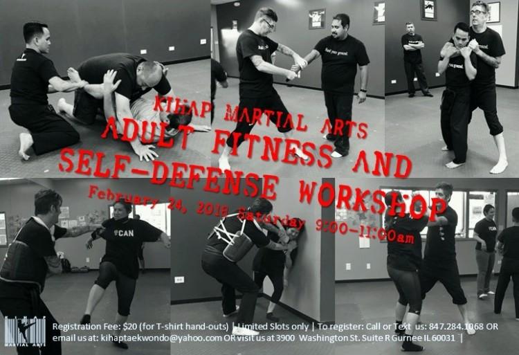 adult self defense poster